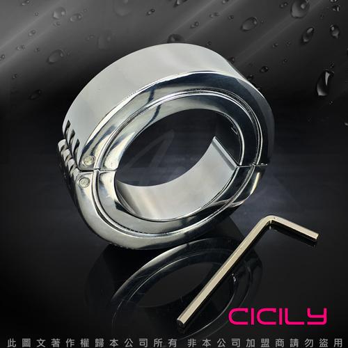 不鏽鋼負重鎖精陽具環